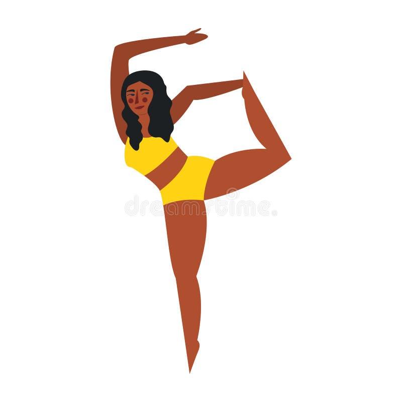 Θετικό σώματος Αρκετά συν τη γυναίκα μεγέθους που απομονώνεται στο άσπρο backgroung r απεικόνιση αποθεμάτων