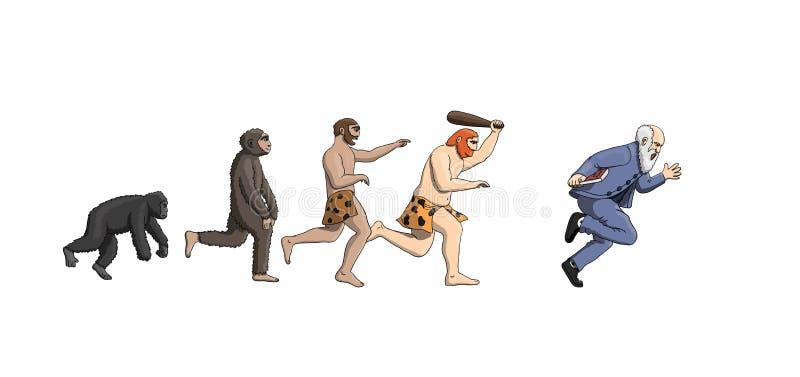 Θεωρία εξέλιξης κινούμενων σχεδίων, πρόοδος της ανθρωπότητας ατόμων ελεύθερη απεικόνιση δικαιώματος