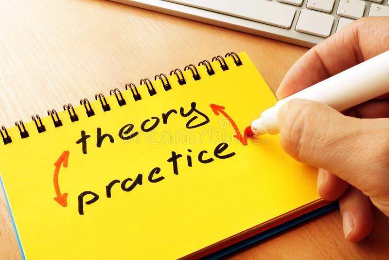 Θεωρία και πρακτική λέξεων στοκ φωτογραφίες με δικαίωμα ελεύθερης χρήσης