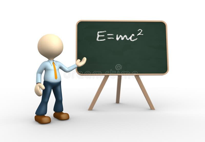 Θεωρία Einstein. διανυσματική απεικόνιση