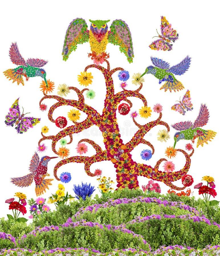 Θεϊκός κήπος παραδείσου διανυσματική απεικόνιση