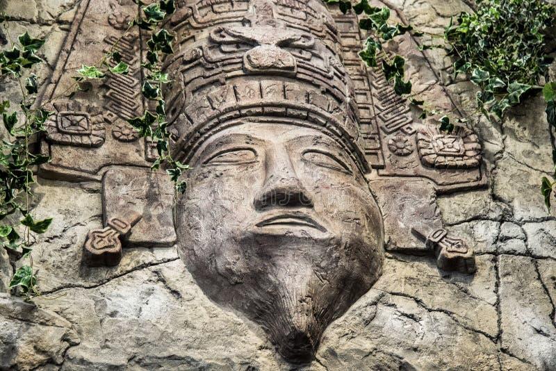 Θεός που χαράζεται των Μάγια στοκ εικόνες