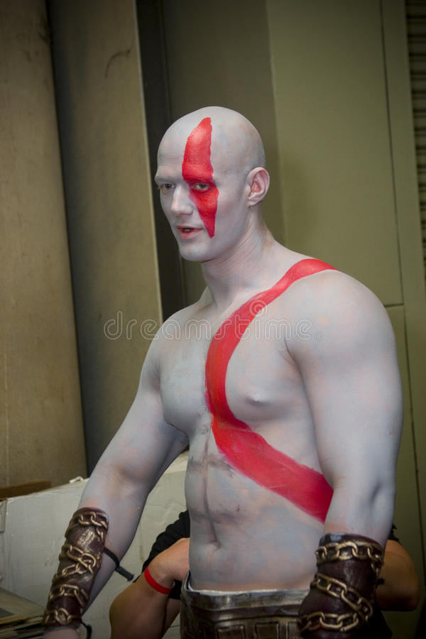 Θεός του πολέμου Kratos στη Βαλτιμόρη Comicon στοκ εικόνες με δικαίωμα ελεύθερης χρήσης