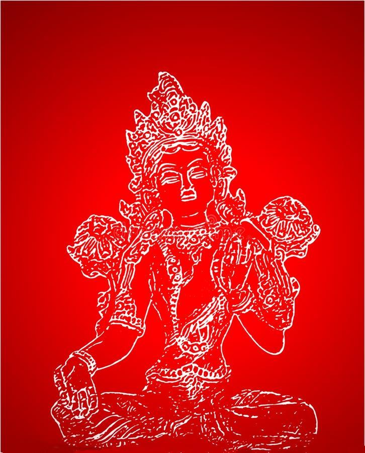 θεότητα Ινδός διανυσματική απεικόνιση