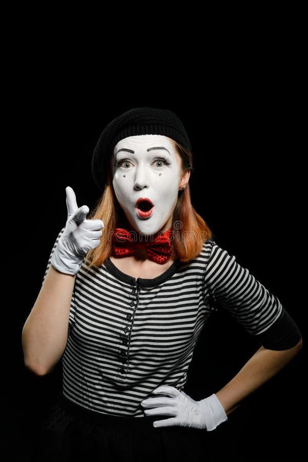 Θηλυκά σημεία mime σε σας στοκ φωτογραφία με δικαίωμα ελεύθερης χρήσης