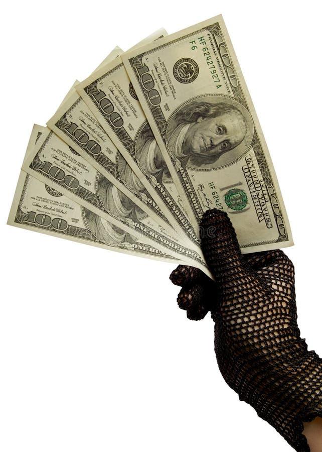 θηλυκά χρήματα χεριών στοκ φωτογραφίες με δικαίωμα ελεύθερης χρήσης
