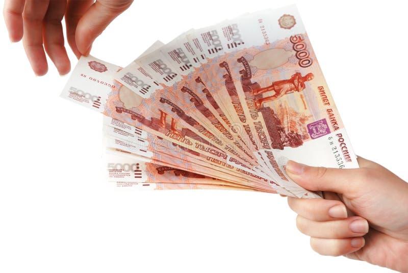 θηλυκά χρήματα χεριών στοκ εικόνα με δικαίωμα ελεύθερης χρήσης