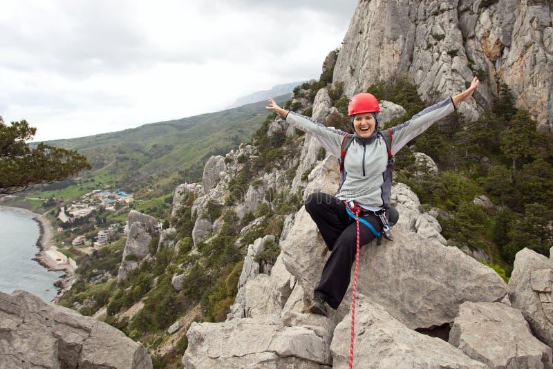 θηλυκή κορυφή διαδρομών &omi στοκ φωτογραφία