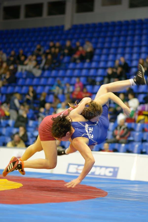 Θηλυκή πάλη στοκ φωτογραφία με δικαίωμα ελεύθερης χρήσης