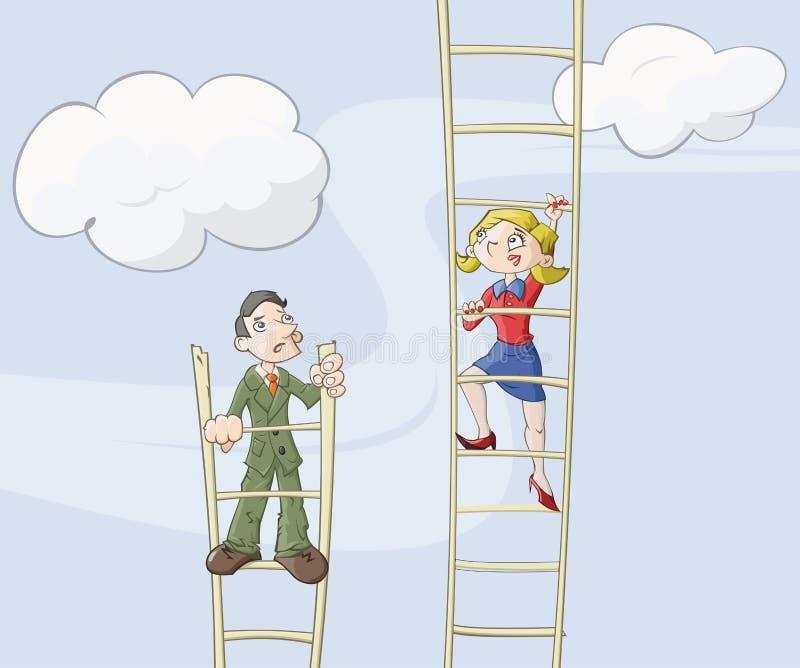 Download θηλυκή σκάλα σταδιοδρ&omicron Διανυσματική απεικόνιση - εικονογραφία από ιδιαίτερα, επιχειρηματίας: 17051895