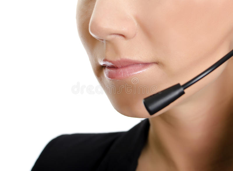 θηλυκή υποστήριξη σχεδιαγράμματος χειριστών λεπτομέρειας πελατών στοκ φωτογραφία με δικαίωμα ελεύθερης χρήσης