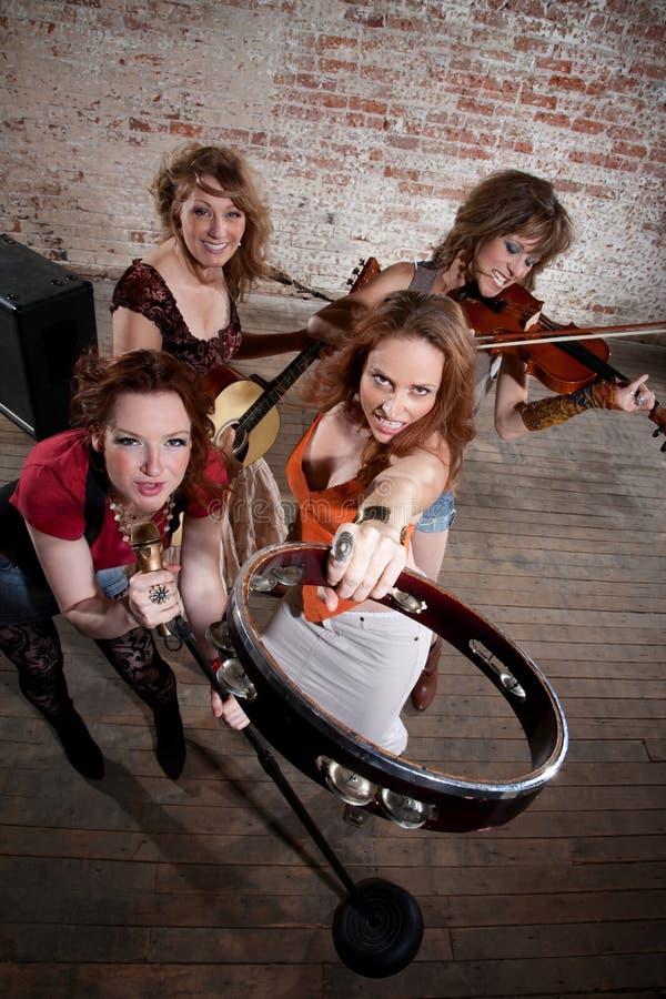 θηλυκοί μουσικοί στοκ φωτογραφία με δικαίωμα ελεύθερης χρήσης