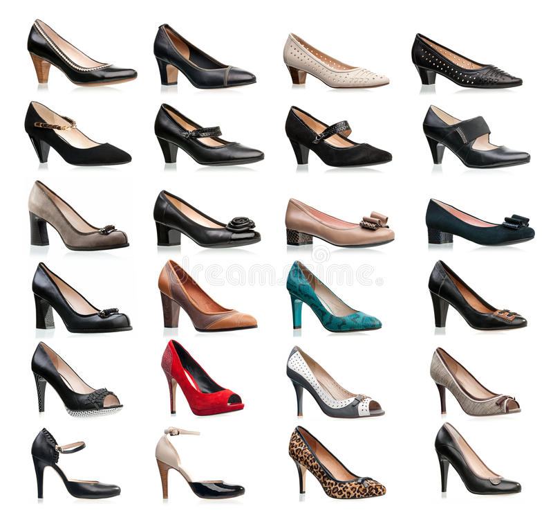 θηλυκοί τύποι παπουτσιών συλλογής διάφοροι στοκ φωτογραφία με δικαίωμα ελεύθερης χρήσης
