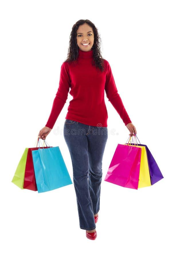 θηλυκός αγοραστής στοκ εικόνες