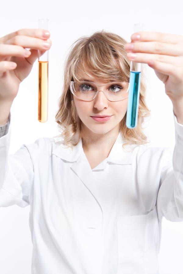 θηλυκός επιστήμονας στοκ εικόνα