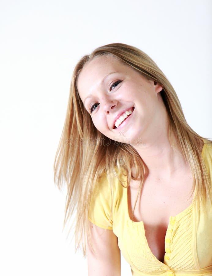 θηλυκός ευτυχής έφηβος στοκ φωτογραφία με δικαίωμα ελεύθερης χρήσης
