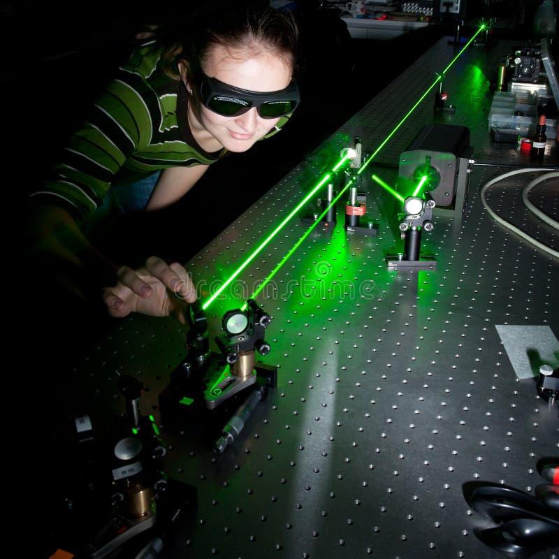 θηλυκός κβαντικός επιστή στοκ φωτογραφία με δικαίωμα ελεύθερης χρήσης
