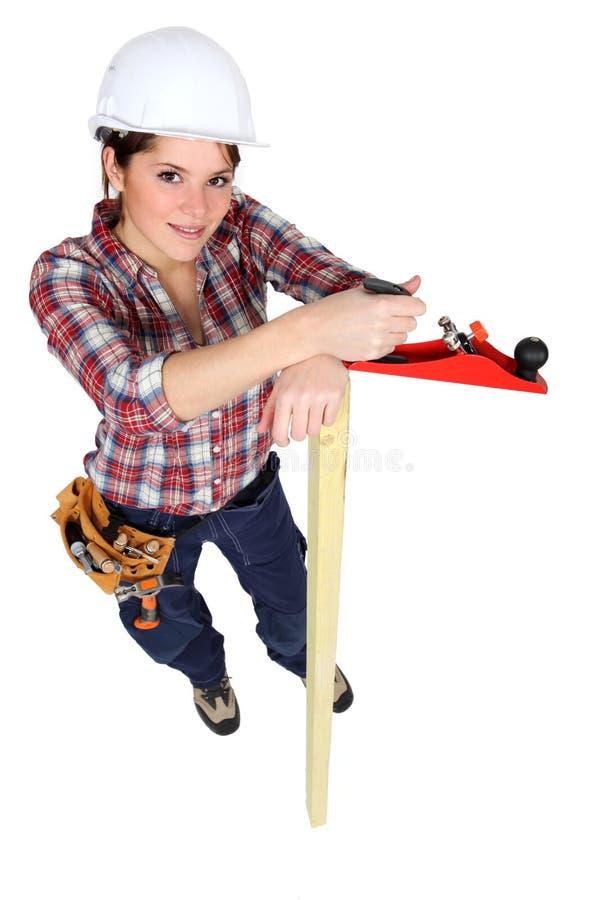 Θηλυκός ξυλουργός στοκ εικόνα