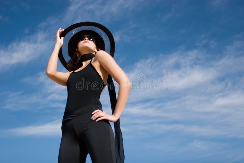 θηλυκός πρότυπος προκλητικός μόδας στοκ φωτογραφίες