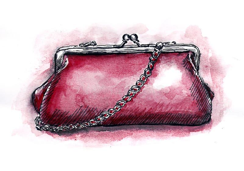 Θηλυκός συμπλέκτης sketch_a Watercolor απεικόνιση αποθεμάτων
