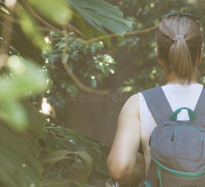 Θηλυκός τουρίστας στοκ φωτογραφία