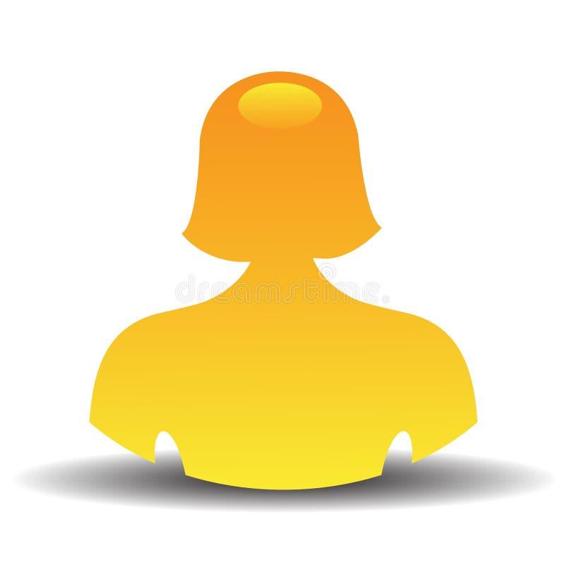 θηλυκός χρήστης εικονι&delta απεικόνιση αποθεμάτων