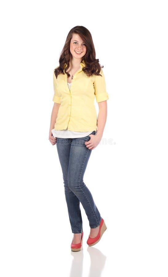θηλυκός όμορφος έφηβος στοκ φωτογραφία