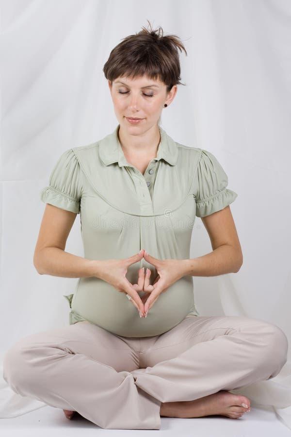 θηλυκό έγκυο στοκ φωτογραφία με δικαίωμα ελεύθερης χρήσης