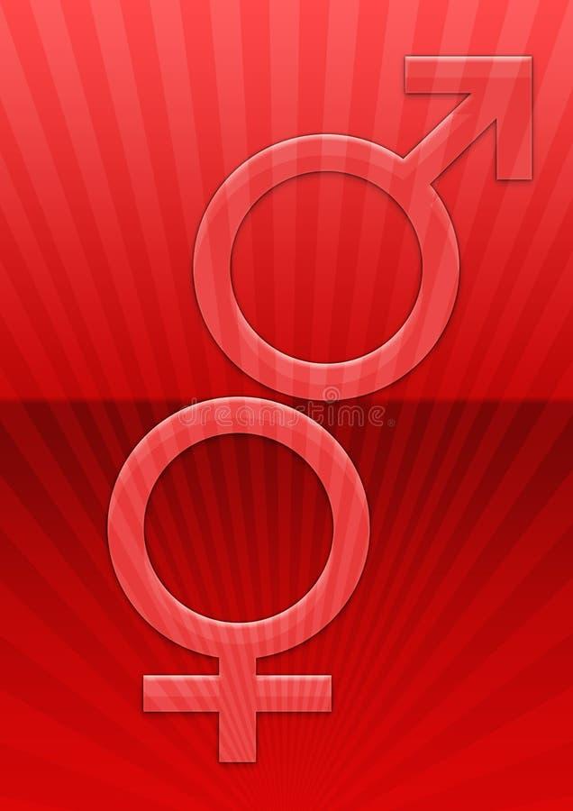 θηλυκό αρσενικό ανασκόπησης διανυσματική απεικόνιση