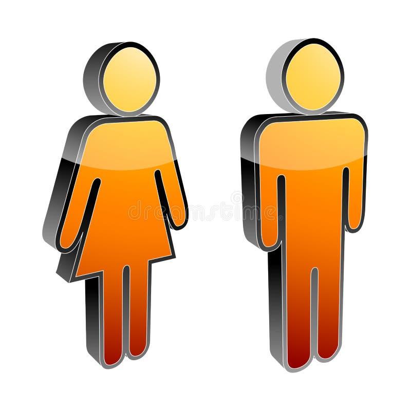θηλυκό αρσενικό εικονι&del διανυσματική απεικόνιση