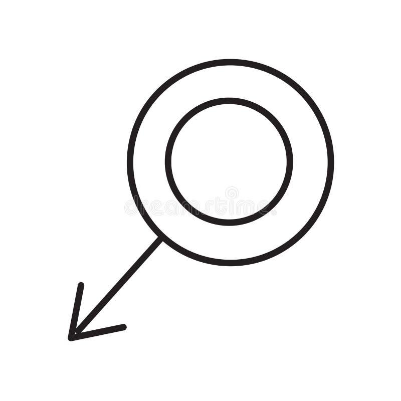 Θηλυκό διάνυσμα εικονιδίων που απομονώνεται στο άσπρο υπόβαθρο, θηλυκό σημάδι, ιατρικά σύμβολα υγείας διανυσματική απεικόνιση
