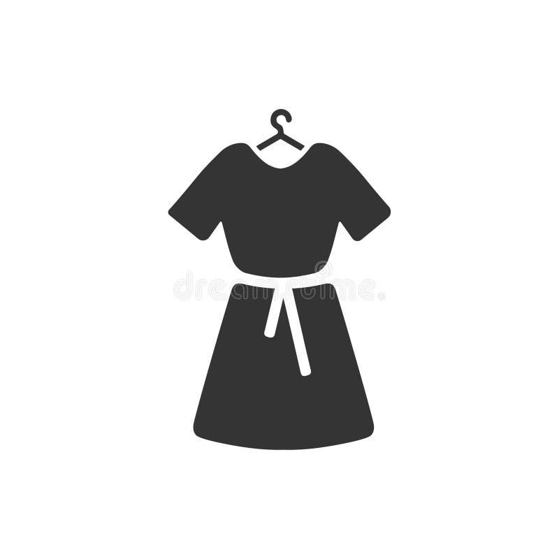 Θηλυκό εικονίδιο φορεμάτων διανυσματική απεικόνιση