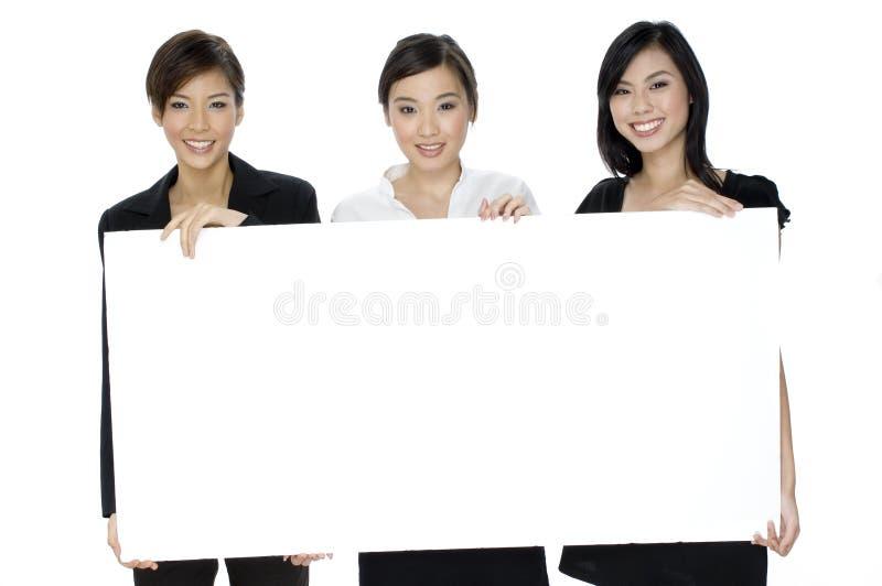 Θηλυκό επιχειρησιακό σημάδι στοκ εικόνες