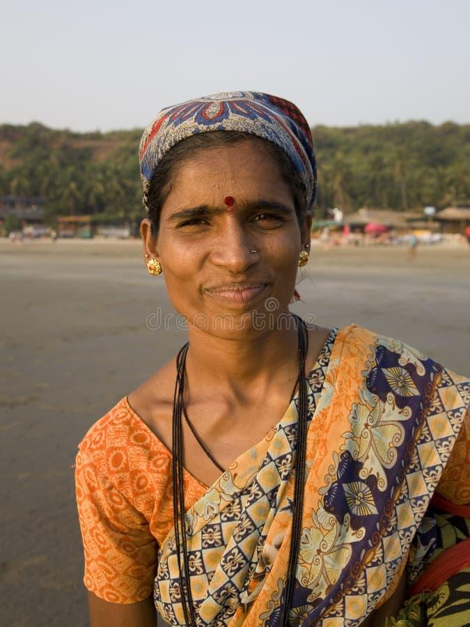 θηλυκό ινδικό χαμόγελο πορτρέτου στοκ εικόνες