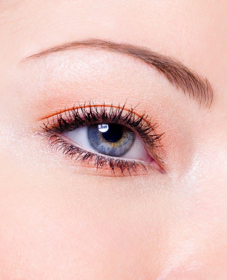 θηλυκό μόδας ματιών makeup στοκ εικόνες