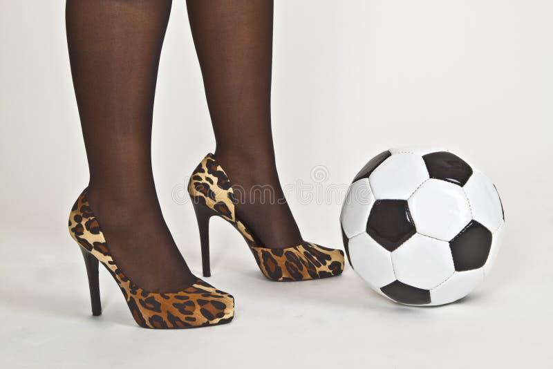 θηλυκό ποδόσφαιρο στοκ εικόνες