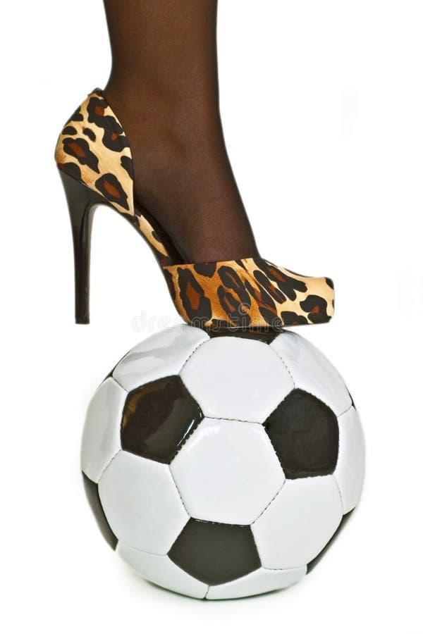 θηλυκό ποδόσφαιρο στοκ εικόνα