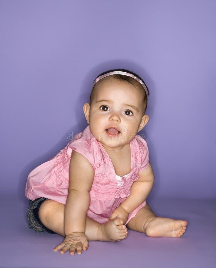 θηλυκό πορτρέτο μωρών στοκ φωτογραφία με δικαίωμα ελεύθερης χρήσης