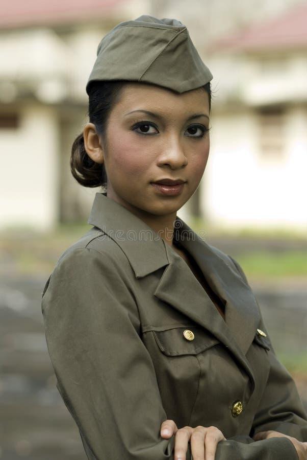 θηλυκό προσωπικό στρατού στοκ εικόνες