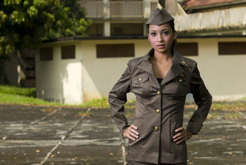 θηλυκό προσωπικό στρατού στοκ φωτογραφία