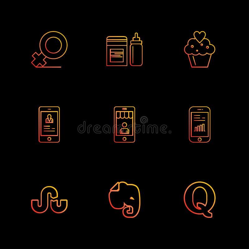 θηλυκό, τροφοδότης, μωρό, κέικ, σχεδιάγραμμα, κινητό, απαρτίες evernote, EP ελεύθερη απεικόνιση δικαιώματος