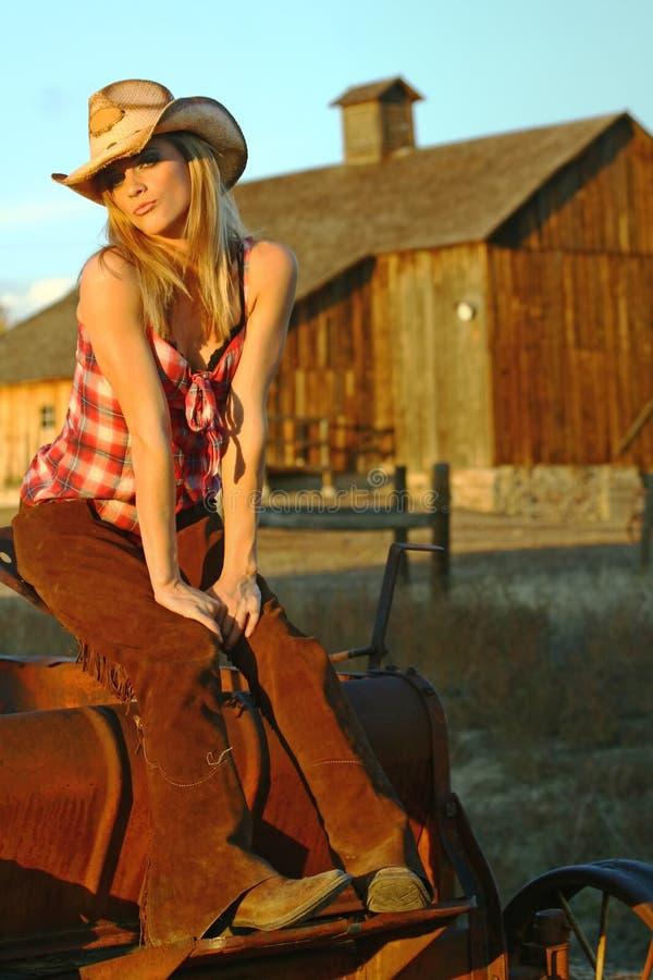 θηλυκό rancher στοκ εικόνες
