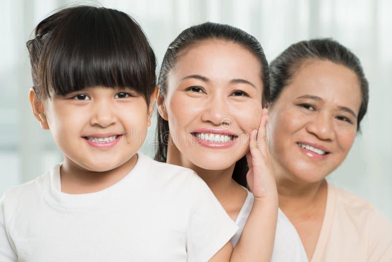 θηλυκές γενεές τρία στοκ φωτογραφία