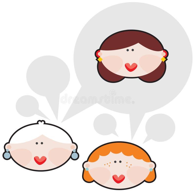 Θηλυκές συνομιλίες. ελεύθερη απεικόνιση δικαιώματος