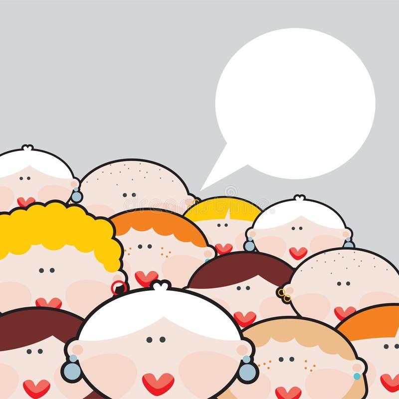 Θηλυκές συνομιλίες. διανυσματική απεικόνιση
