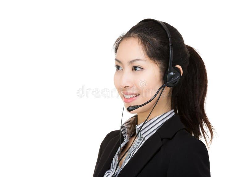 Θηλυκή εξυπηρέτηση πελατών της Ασίας στοκ φωτογραφία με δικαίωμα ελεύθερης χρήσης