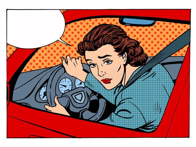 Θηλυκοί κανόνες κυκλοφορίας μεταφορών οδηγών προσβάλλοντας ελεύθερη απεικόνιση δικαιώματος