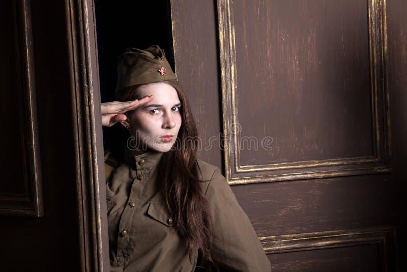 Θηλυκοί στρατιώτες του σοβιετικού στρατού κατά τη διάρκεια του δεύτερου παγκόσμιου πολέμου στοκ φωτογραφίες