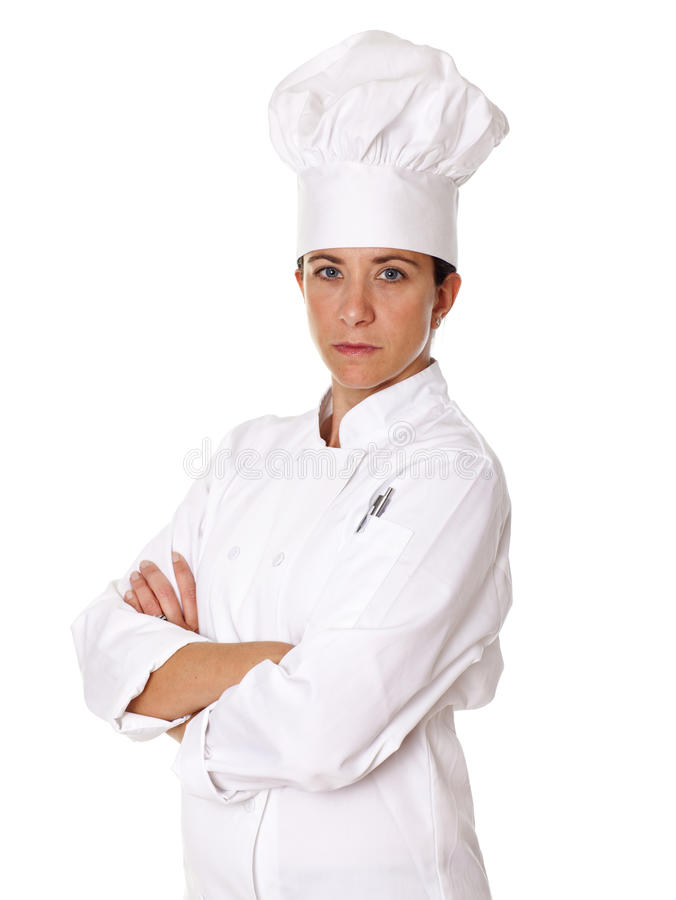 Θηλυκός αρχιμάγειρας στοκ εικόνα