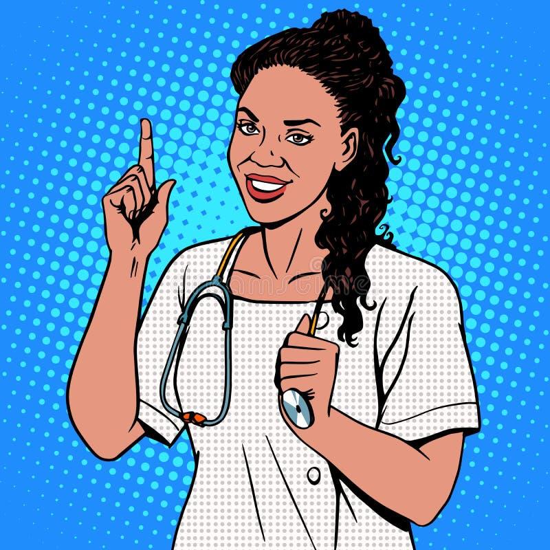 Θηλυκός γιατρός Αφρικανού απεικόνιση αποθεμάτων